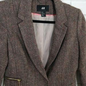 H&M Tweed Blazer Size 8